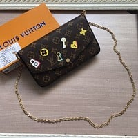 LV Louis Vuitton MONOGRAM CANVAS POCHETTE FELICIE CHAIN SHOULDER BAG