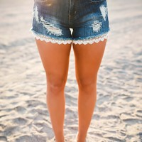 Lace Bottom Shorts-FINAL SALE