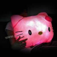 LED Hello Kitty Light Up Pillow Glowing Moonlight Cushion Party Supply Free Shipping $39.99  Gadgets-N-Gizmos.com