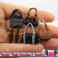 Jesse James Buttons 5 pc a POSH PURSES OR Turn them Into Flatback Decoden Cabochons