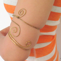 Gypsy tribal armlet, upper arm cuff, above the elbow bracelet, gift under 30