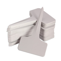 50pcs T-type Plastic Plant Tags Markers Nursery Garden Labels Gardening Planting Tools 6*10cm