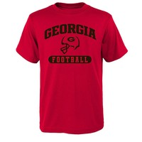 Georgia Bulldogs Sport Arch Football Tee - Boys 8-20, Size: