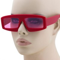 Rectangular Retro Vintage Sunglasses Plastic Frame Women Fashion Shades Eyewear