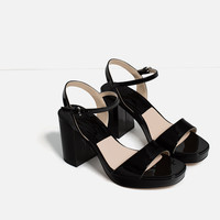 METALLIC PLATFORM SANDALS - View All-SHOES-SALE-WOMAN | ZARA United States