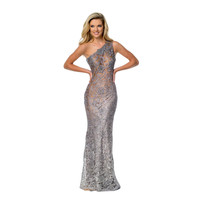 Terani Couture One Shoulder Prom Formal Dress
