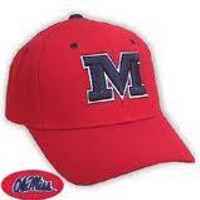 """NCAA Ole Miss Rebels Top Of The World Red Hat With Block """"M"""""""