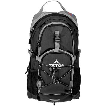 TETON Sports Oasis 1100 Hydration Pack; Free 2-Liter Hydration Bladder; For Backpacking, Hiking, Running, Cycling, and Climbing Black