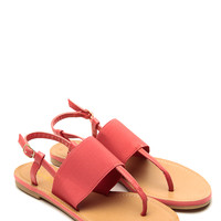 Bamboo Coral Strapped Sandals