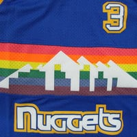 NWT Allen Iverson #3 Denver Nuggets Throwback Basketball Jersey Stitched Men