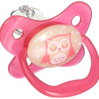 Dr. Brown's 4 Piece Glow in The Dark Stage 2 Pacifier for Web, Pink, 6-12 Month