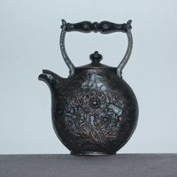 Vintage Homco tea kettle wall decor, teapot, cottage chic, wall hangings