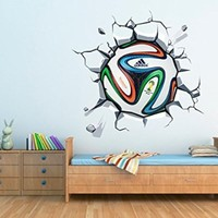 World Cup Soccer Ball Vinyl Wall Decal , 44.1 x 40.2 Inches | 112 x 102 cm