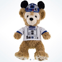 """Disney Parks Star Wars Duffy in R2-D2 Shirt & Ears 12"""" Plush New with Tags"""