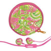 Lilly Pulitzer Earbuds and Pouch   Lifeguard Press