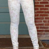 Sienna Faded Floral Print Skinny Jean by DEX Jeans