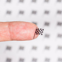 56 Clear Checkered Flag Planner Stickers