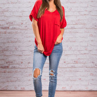 On The Go Tee, Red