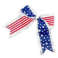 Stars and Stripes Sequin Cheer Bow | Claire's