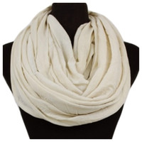 Soft and Smooth Ivory Infinity Scarf, Loop, Women's Accessories