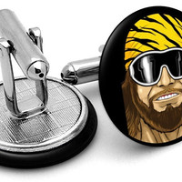 Macho Man Portrait Cufflinks