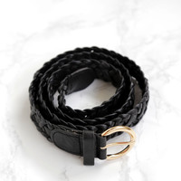 Lodge Braided Belt, Black