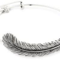 """Alex and Ani Earth Sultry """"Plume Feather"""" Bangle Bracelet, 7.75"""""""