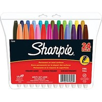 Sharpie® Fine Point Permanent Markers, Assorted Colors, 24/Pack