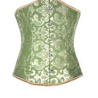 Casual Lace-Up Single Breasted Printed Corset