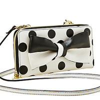 Betsey Johnson Gift Me Baby String Wallet Cream