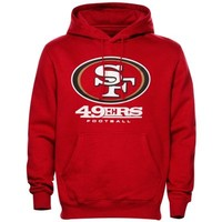 Mens San Francisco 49ers Scarlet Critical Victory Pullover Hoodie