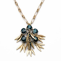 Jeweled Quill Pendant Necklace