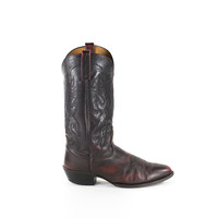 Vintage Cowboy Boots Burgundy Wine Tall Western Boots Womens Size 10