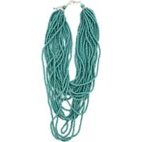 Women's Loulabelle Multi Strand Blue Bead Necklace