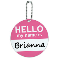 Brianna Hello My Name Is Round ID Card Luggage Tag