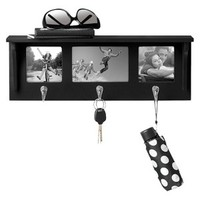 RE™ Three Hook Entryway Shelf with Photo Frames