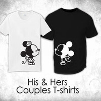 """His & Hers T-Shirts - """"Couple Kissing"""""""