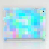 Re-Created Colored Squares No. 1 iPad Case by Robert Lee