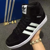 Adidas Originals Increase High Top sports shoes black-white line black logo H-MDTY-SHINING