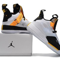 Air Jordan XXXIII Basketball Shoes - White/Black/Yellow