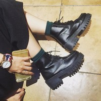 On Sale Hot Deal Waterproof Thick Crust Dr. Martens Korean Stylish Boots [11192813895]