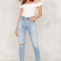 Off and On Ribbed Bodysuit