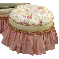 Angel Song 221520108 English Bouquet Adult Princess Round Stationary Ottoman