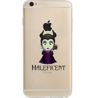 Disney's Villains (Maleficent) Jelly Clear Case For Apple Iphone 6/6s PLUS (5.5-Inch)