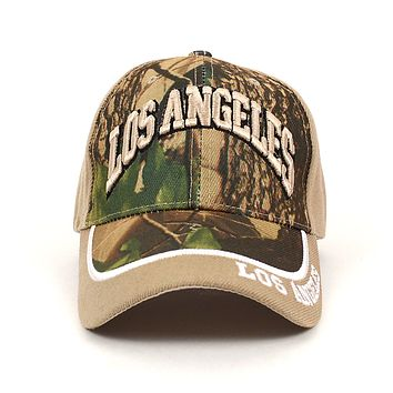 Los Angeles Camo 3D Embroidered Baseball Cap, Hat