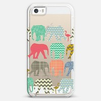 baby elephants and flamingos transparent iPhone 5s case by Sharon Turner   Casetify