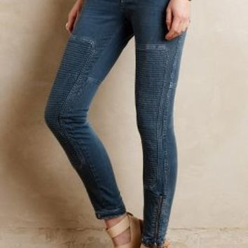 Closed Holly Moto Straight Jeans Steel Blue