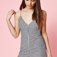 Kendall and Kylie Gingham Ruffle Romper at PacSun.com