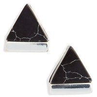 Leith Marbled Triangle Stud Earrings | Nordstrom