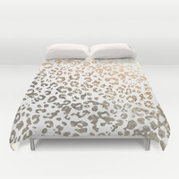 *** GOLD LEO ***  Duvet Cover by Monika Strigel